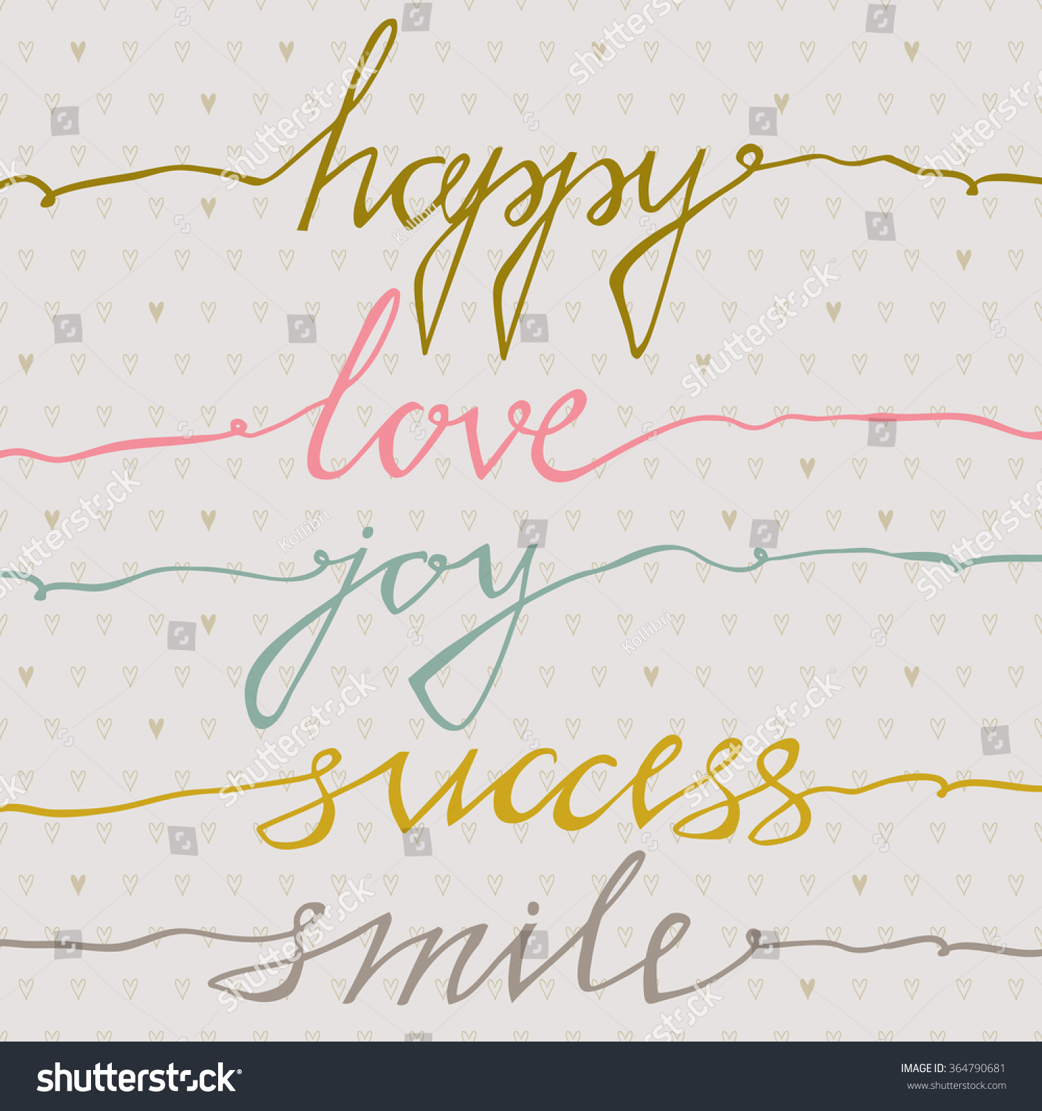 Happy Love Joy Success Smile Inspirational Stock Vector Royalty