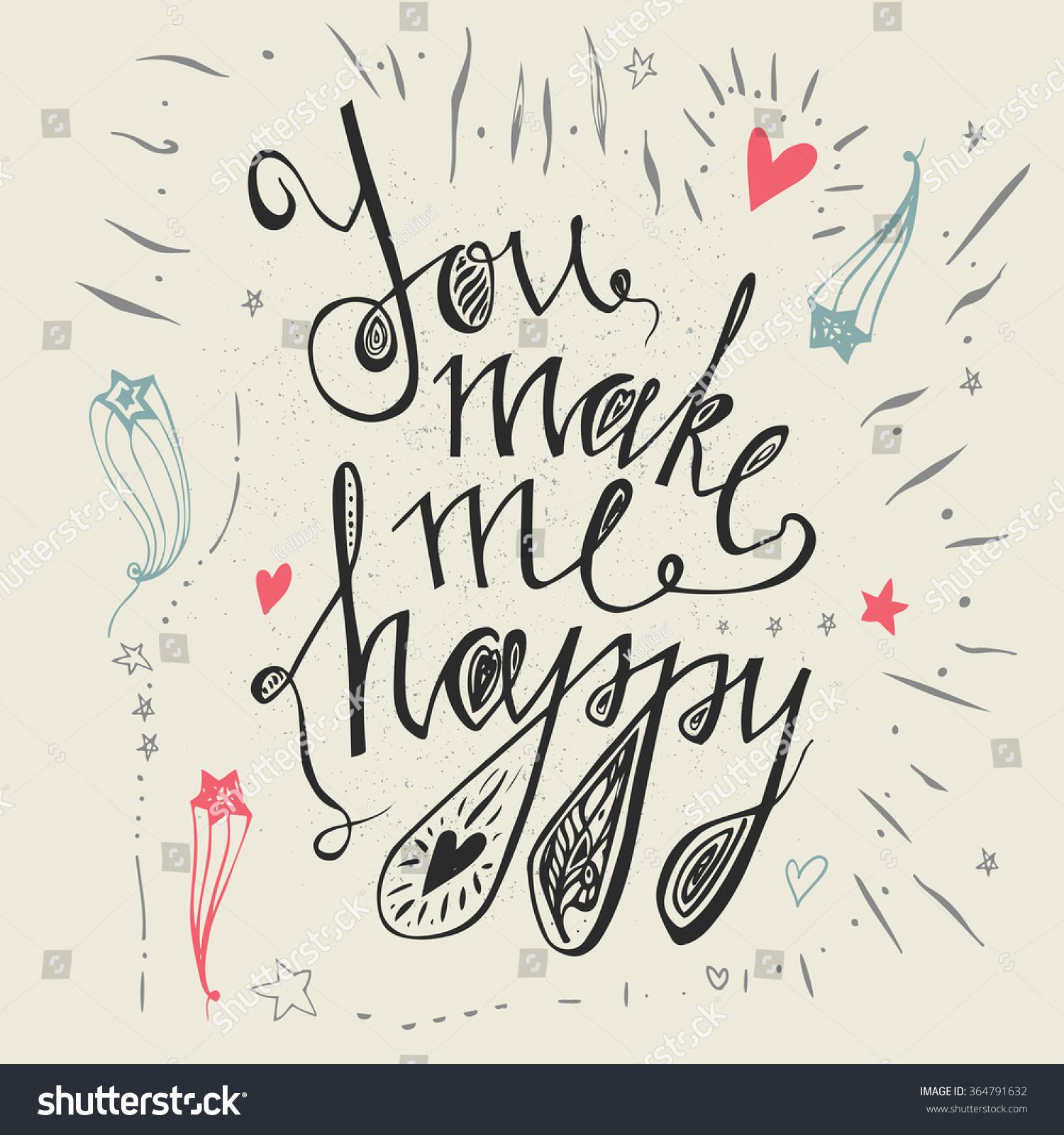 Hand Drawn Typography Poster Make Me Stock Vector Royalty Free