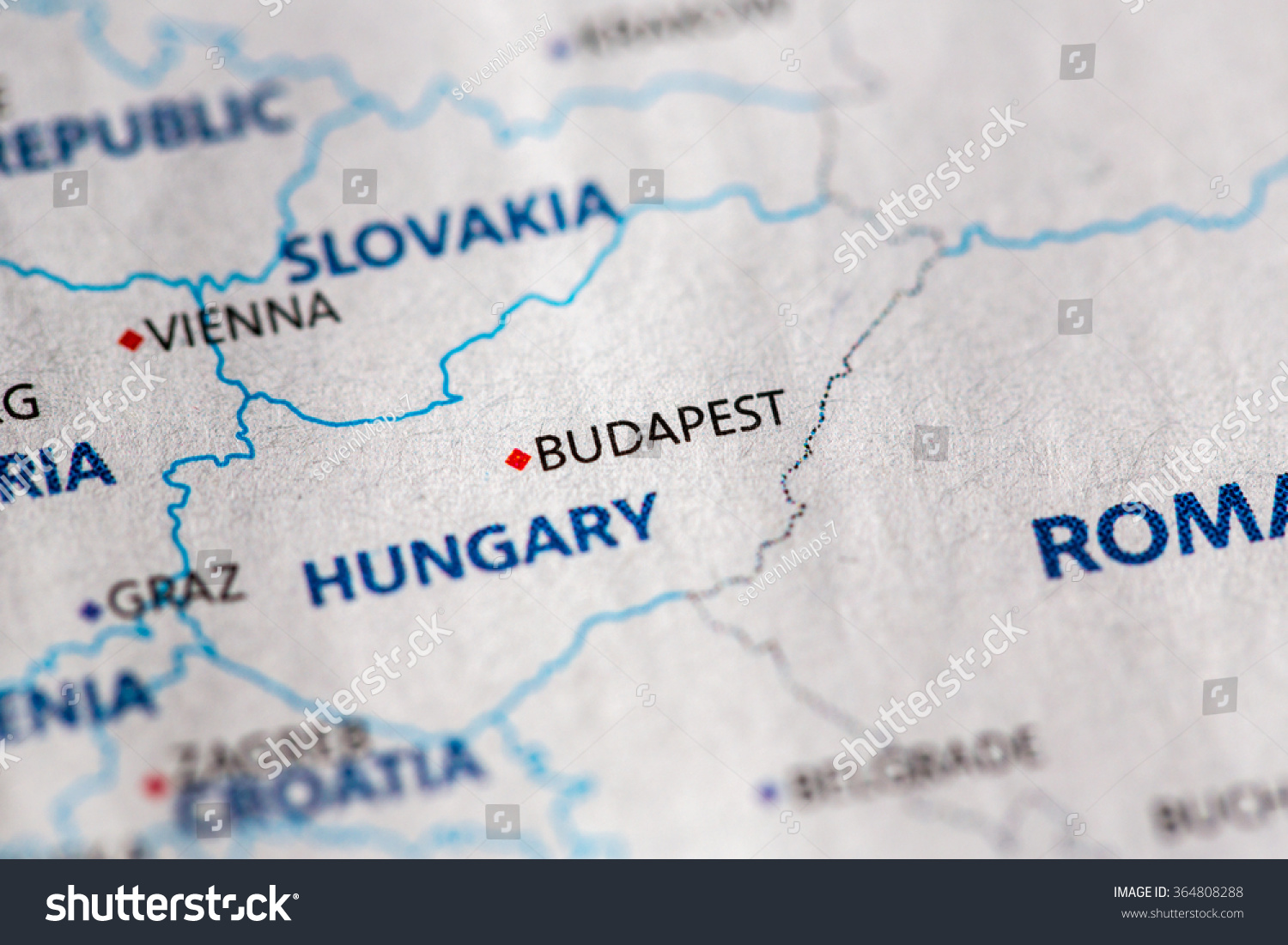 Budapest On Europe Map.Closeup Budapest Hungary On Political Map Stock Photo Edit Now