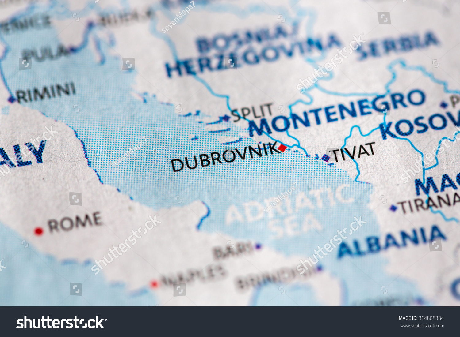 Closeup dubrovnik croatia on political map stock photo image closeup of dubrovnik croatia on a political map of europe gumiabroncs Gallery