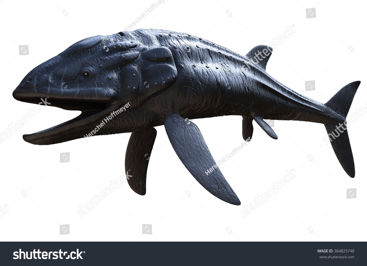 Leedsichthys Giant Bony Fish That Lived Stock Illustration 364825748