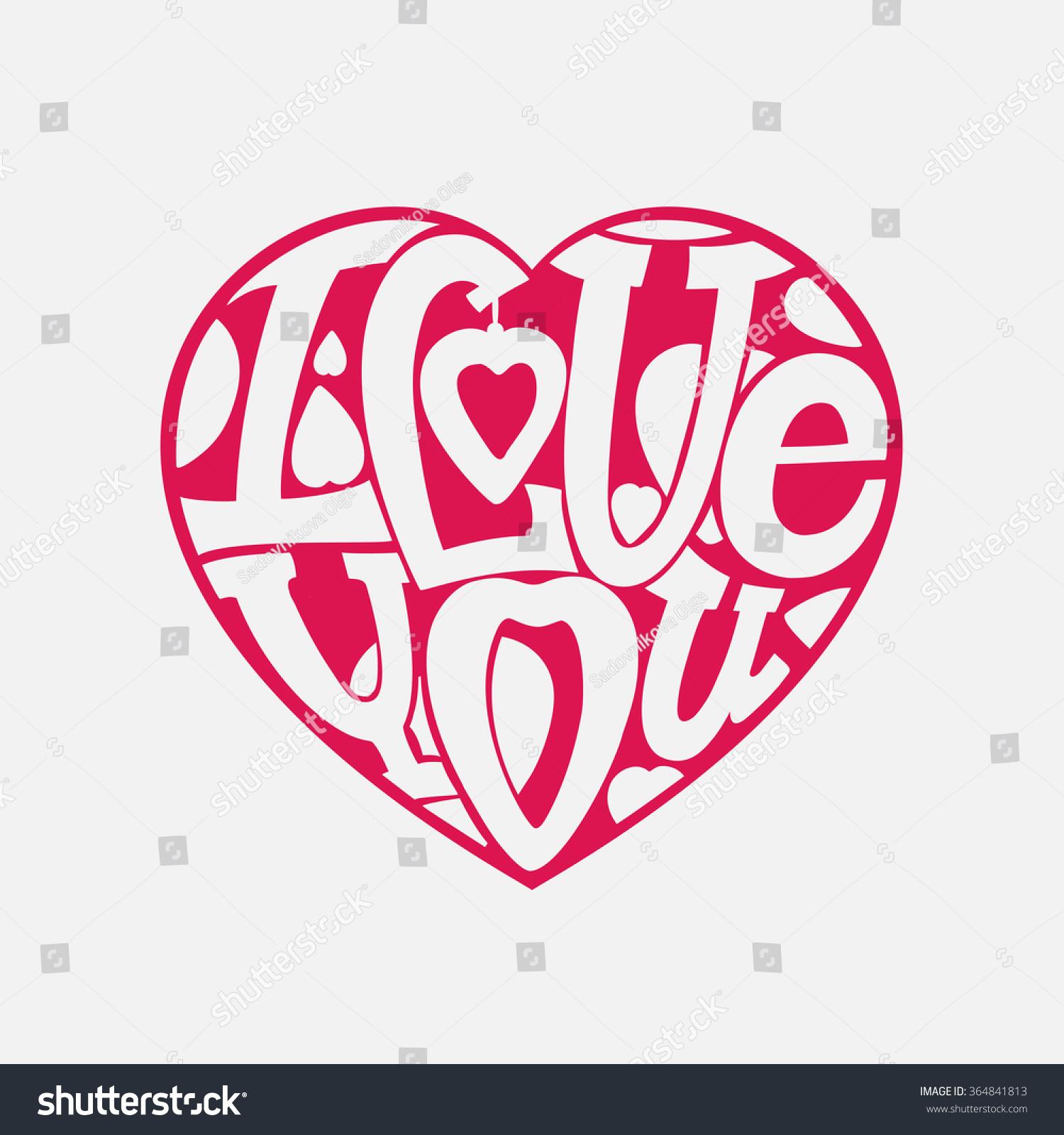 Design Lettering I Love You Hand Stock Vector Shutterstock