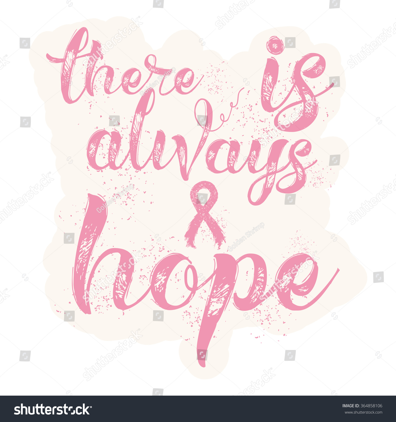 Breast Cancer Inspirational Quotes There Always Hope Inspirational Quote About Stock Vector 364858106