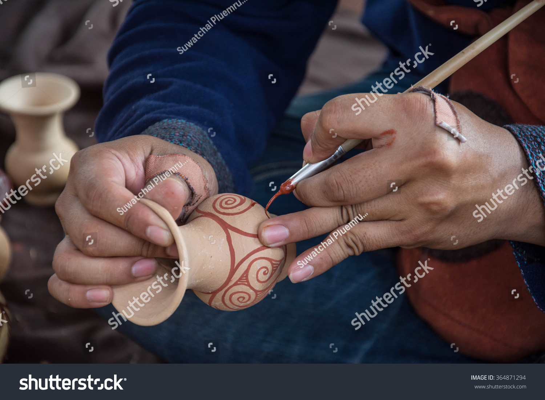 Man painting on vase ban chiang stock photo 364871294 shutterstock man painting on vase ban chiang udon thani thailand reviewsmspy