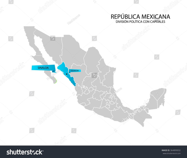 mexico map estado de sinaloa