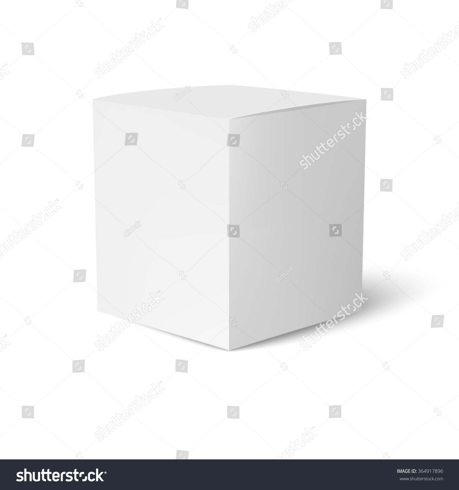 paper cardboard box template standing on stock illustration