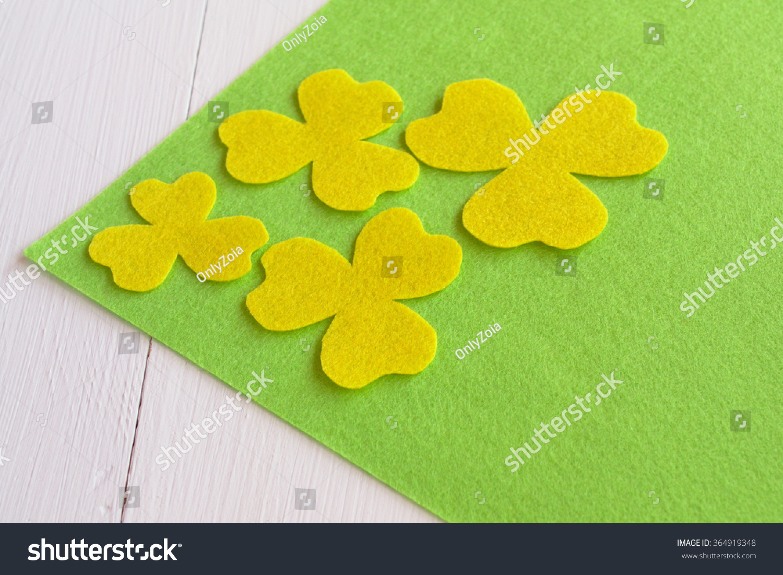 Handmade Yellow Felt Flower Sewing Kit Stock Photo Edit Now