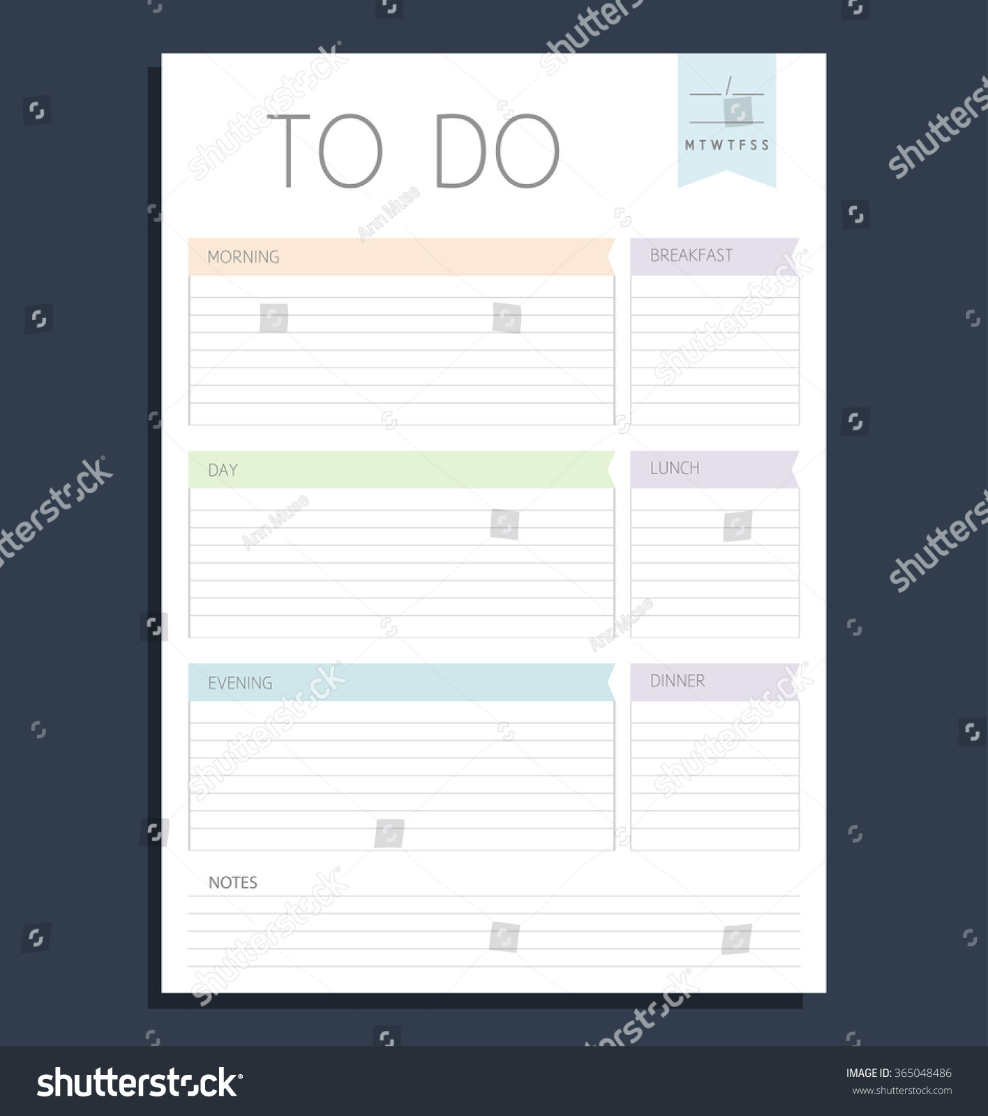 vector color template do list blank stock vector royalty free