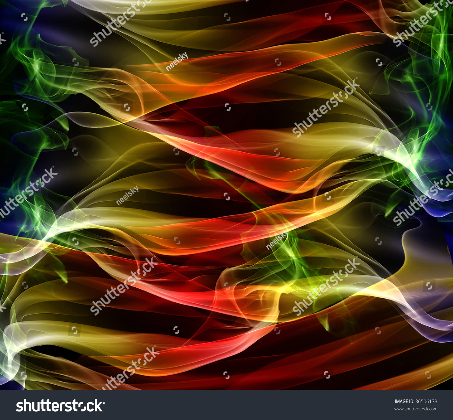 Vibrant Colorful Abstract Background Wallpaper With Smoke