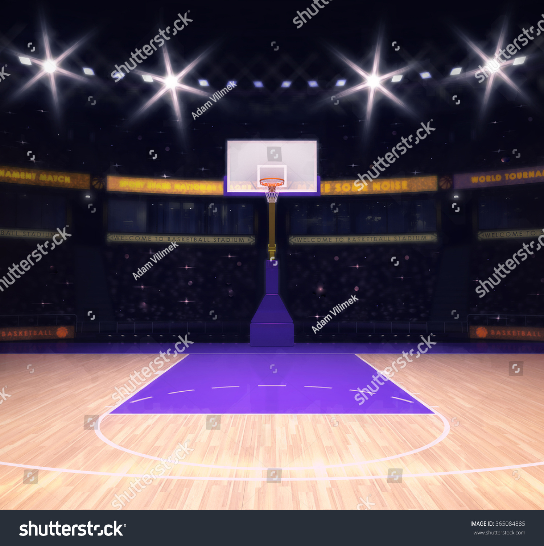 Empty Basketball Court...