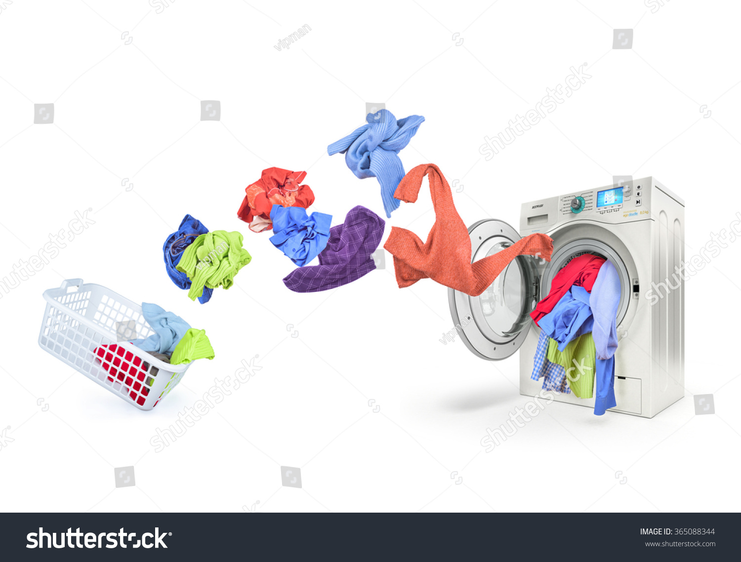 clothing falls into washing machine stock photo 365088344 shutterstock. Black Bedroom Furniture Sets. Home Design Ideas
