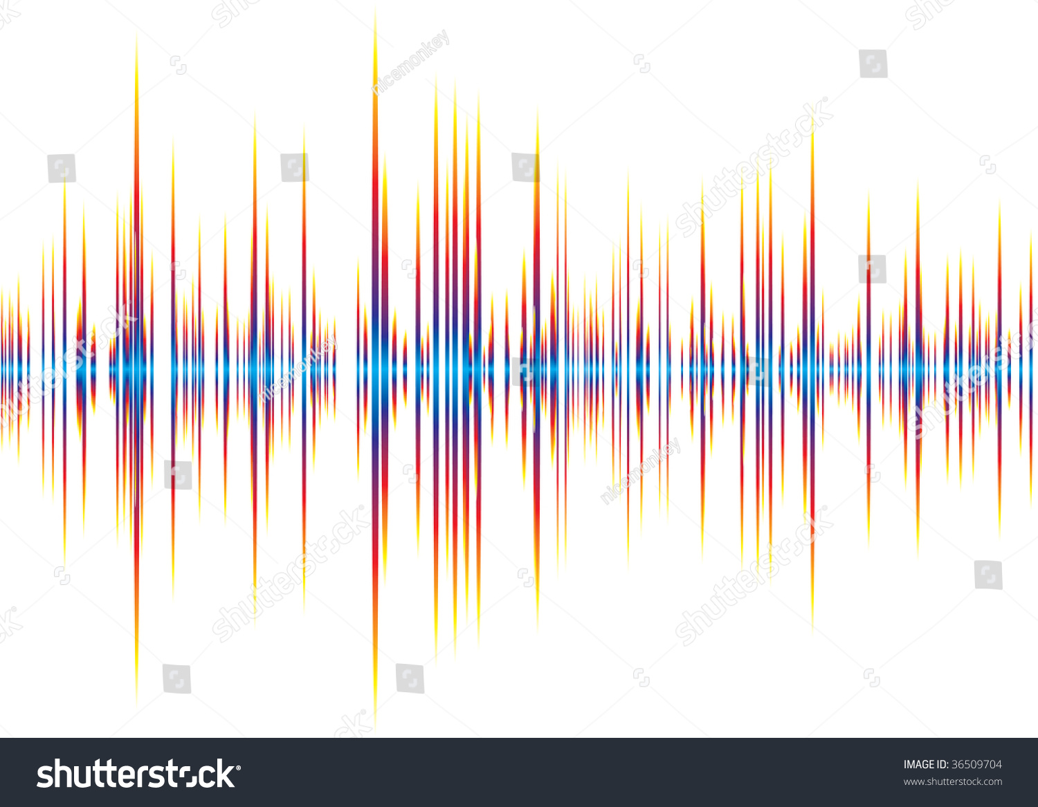 Abstract Music Inspired Graphic Equalizer Background Stock Vector