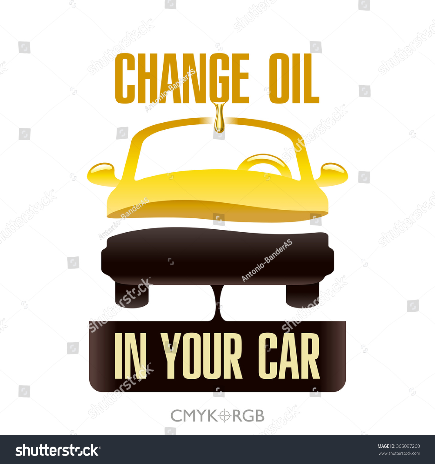 Graphic Illustration Of Engine Oil Change In Your Car