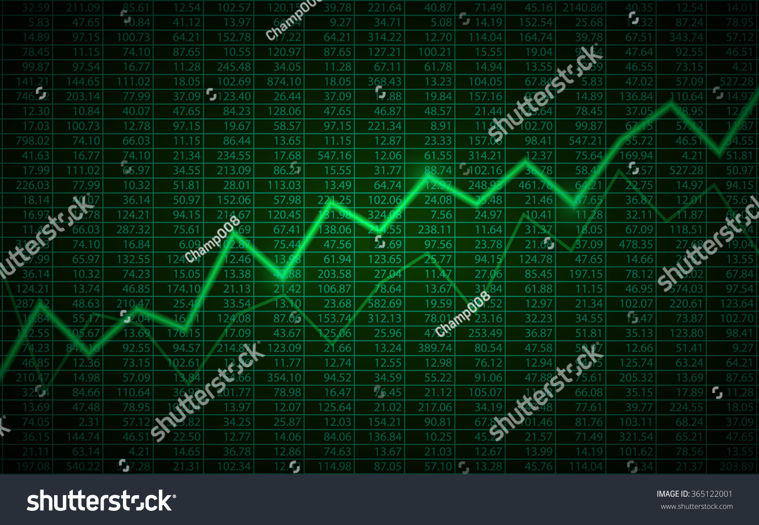 Abstract Business Chart Uptrend Line Graph Stock Vector HD (Royalty ...
