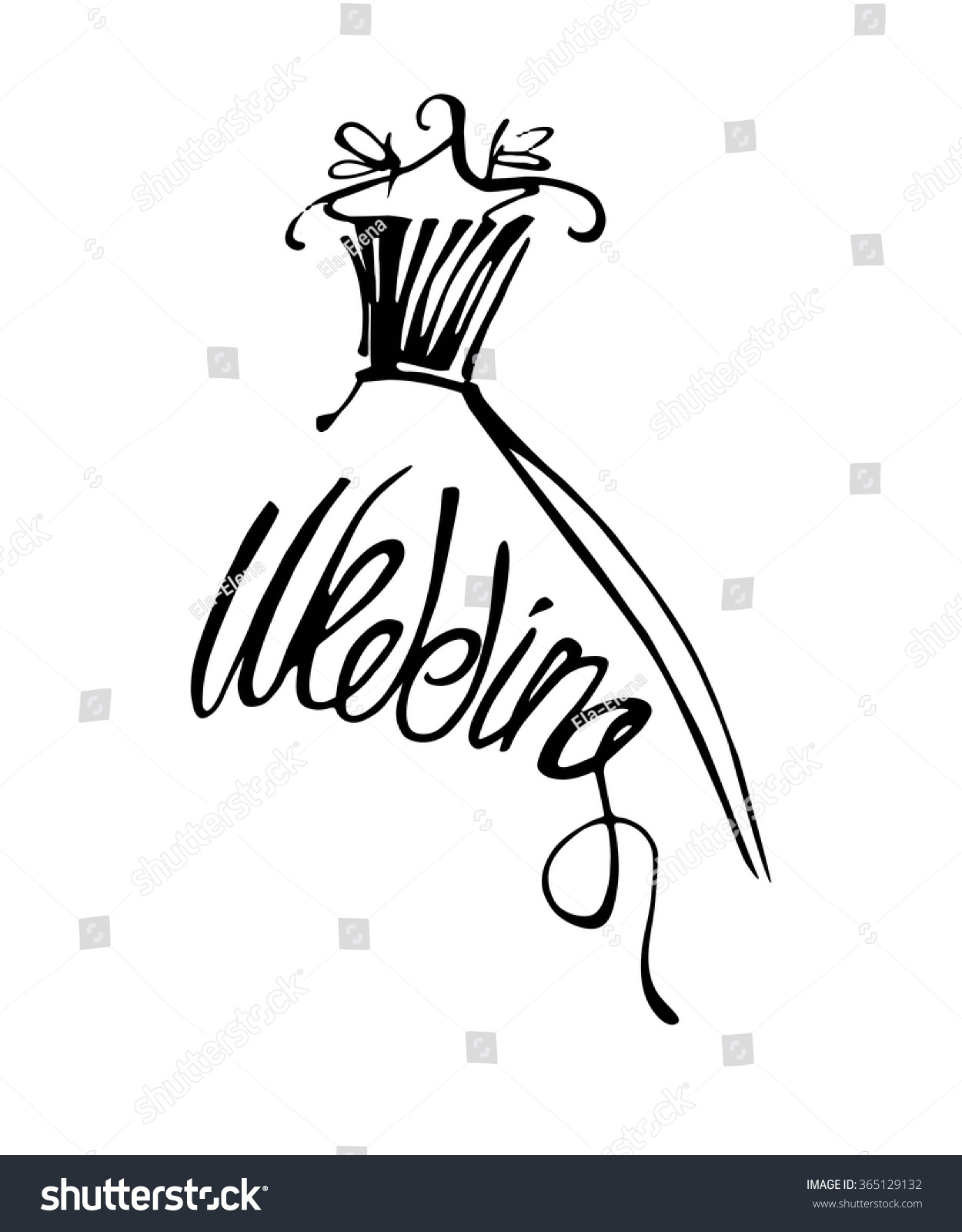 Fashion Design Illustration Hand Drawn Woman Stock Vector 365129132 Shutterstock