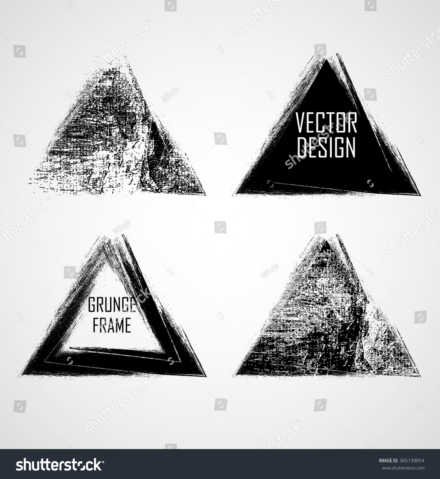 Grunge Rubber Texture Stamp Distressed Triangle Stock Vector ...