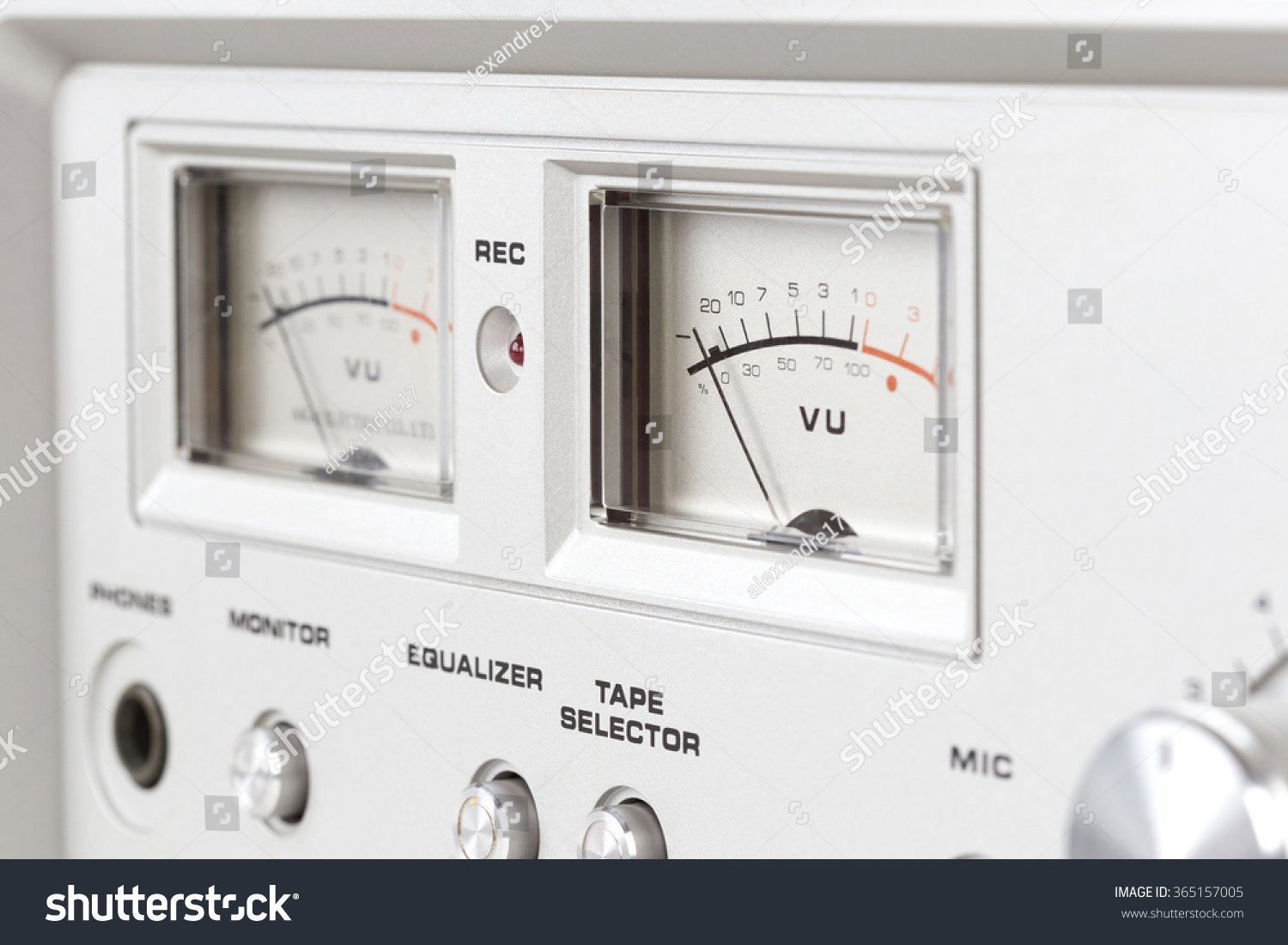 Control Panel Of Old Reel Tape Recorder Vu Meter Ez Canvas 3