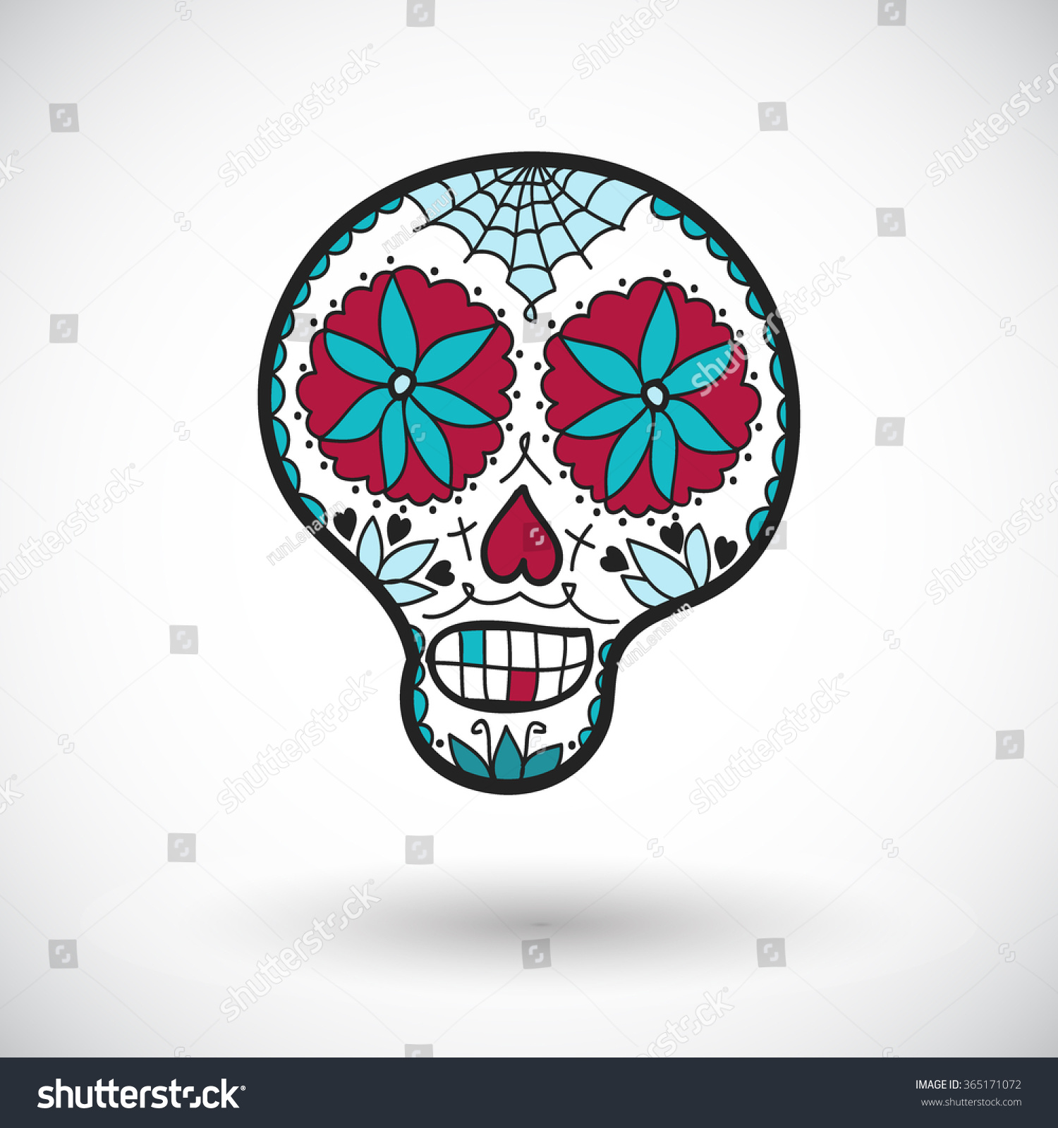 Sugar skull sketch hand drawn cartoon stock vector 365171072 sugar skull sketch hand drawn cartoon day of the dead icon doodle drawing biocorpaavc Images