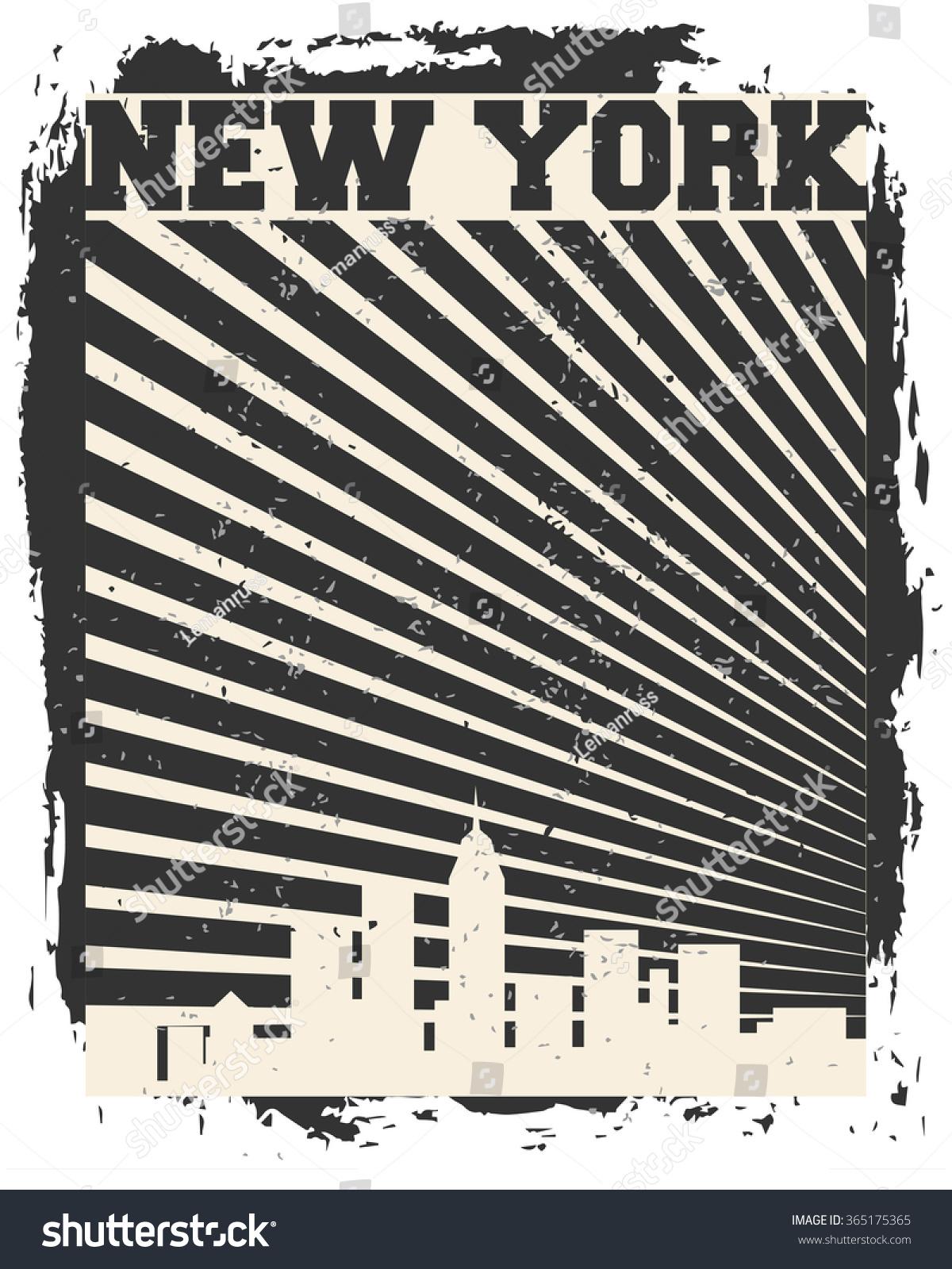 Shirt design nyc - New York City Concept Logo Label T Shirt Design Nyc