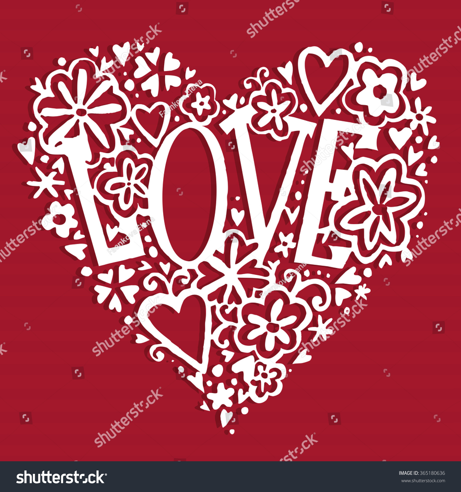 Valentines Day Card Love You Background Stock Illustration 365180636 ...