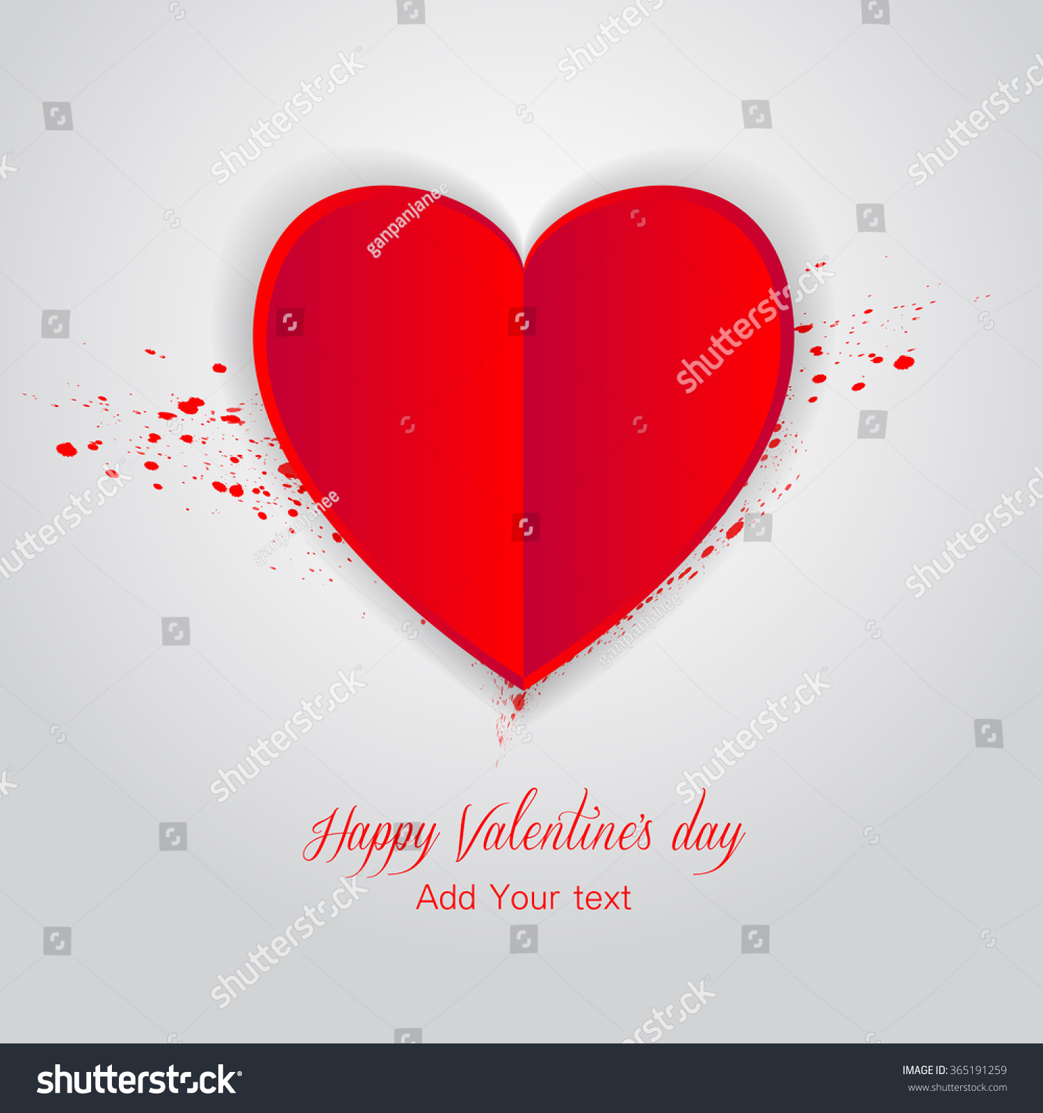 Valentines Day Card Template Greeting Card Stock Vector HD (Royalty ...
