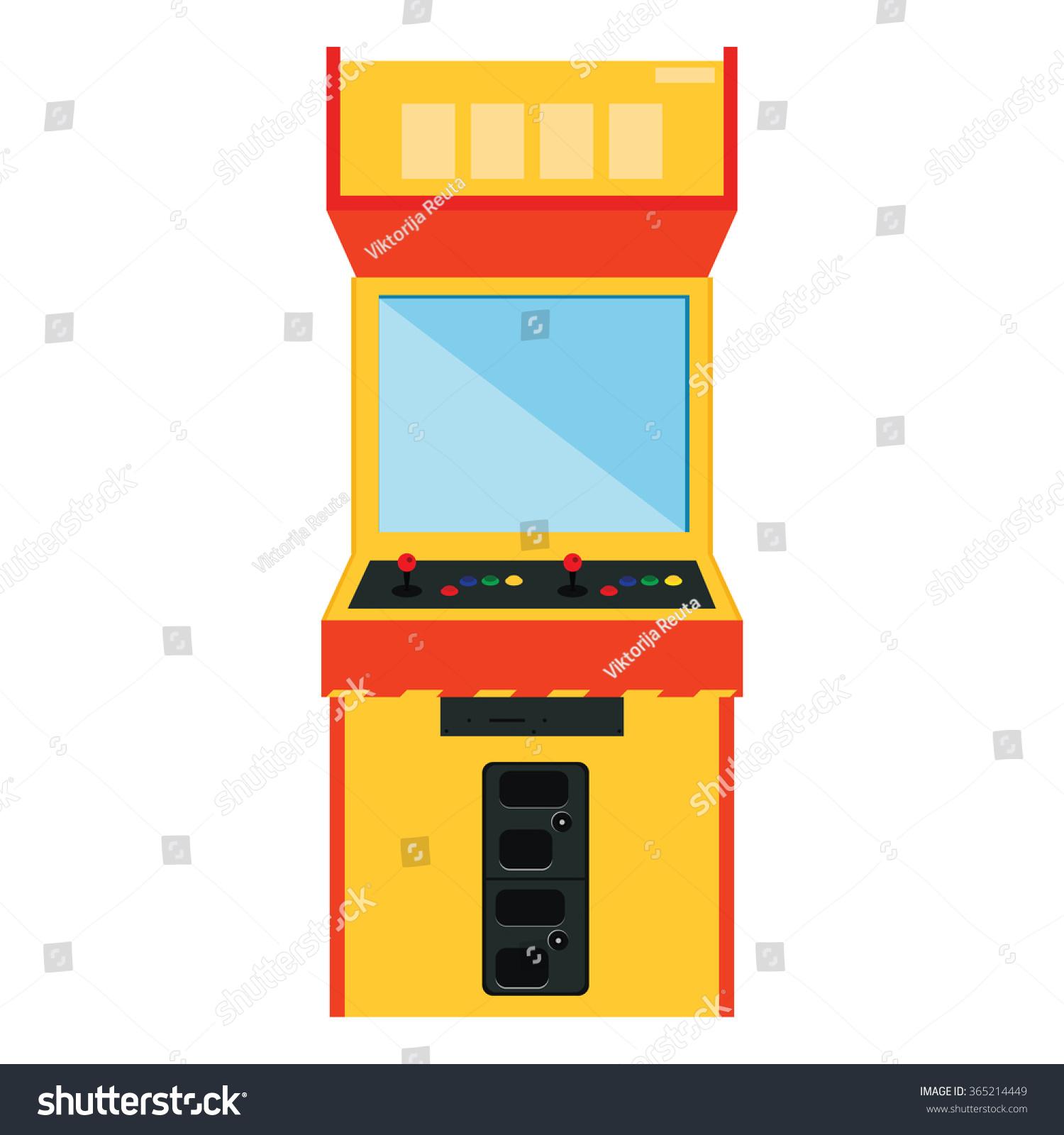 Vector Illustration Retro Arcade Game Machine Stock Vector ...