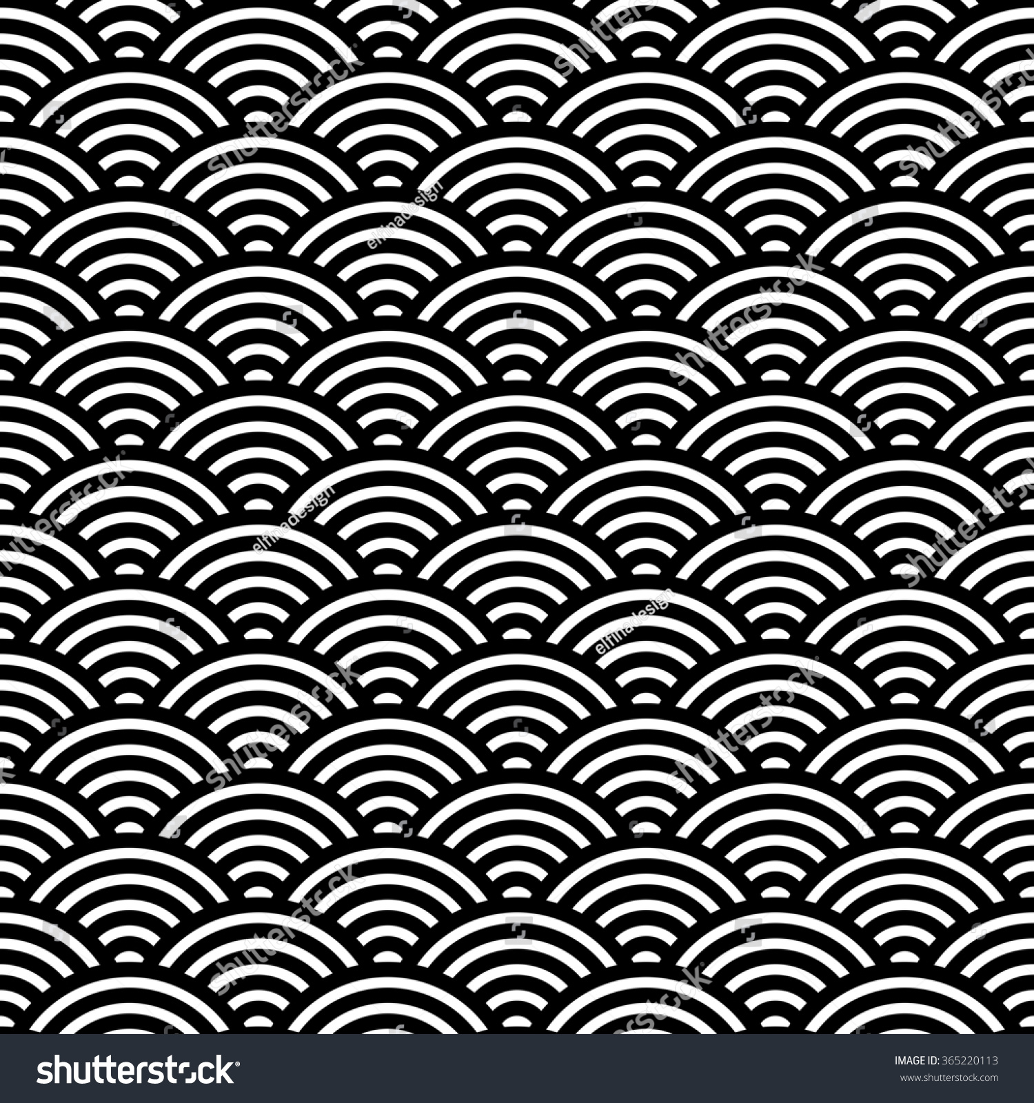 Japanese Fan Pattern Vector Illustration Asian Stock ...