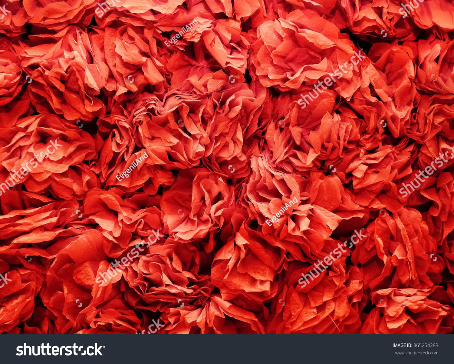 Background Flowers Made Red Crepe Paper Stock Photo Edit Now