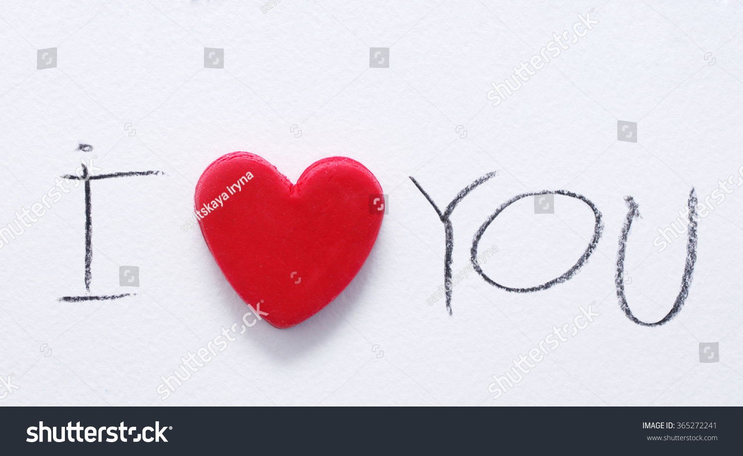 Red Heart Text I Love You Stock Photo 365272241 - Shutterstock