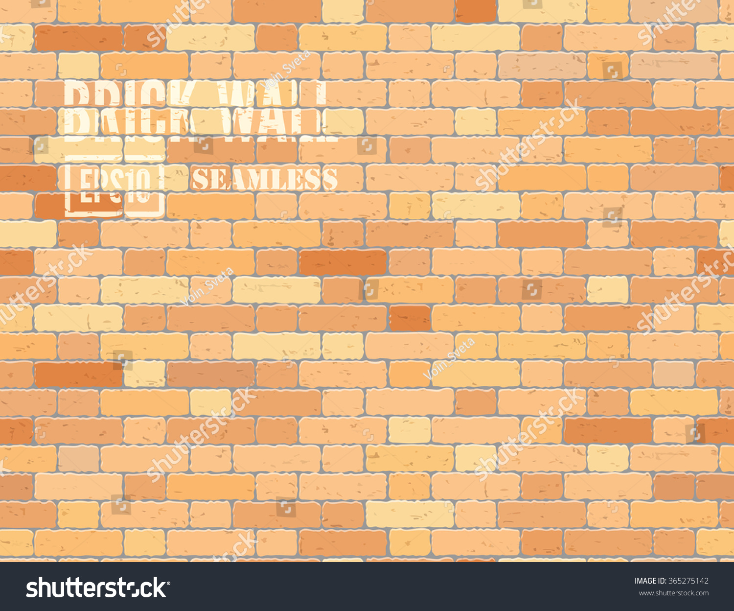 Vector Grunge Old Brick Wall Seamless Stock Vector (Royalty Free ...