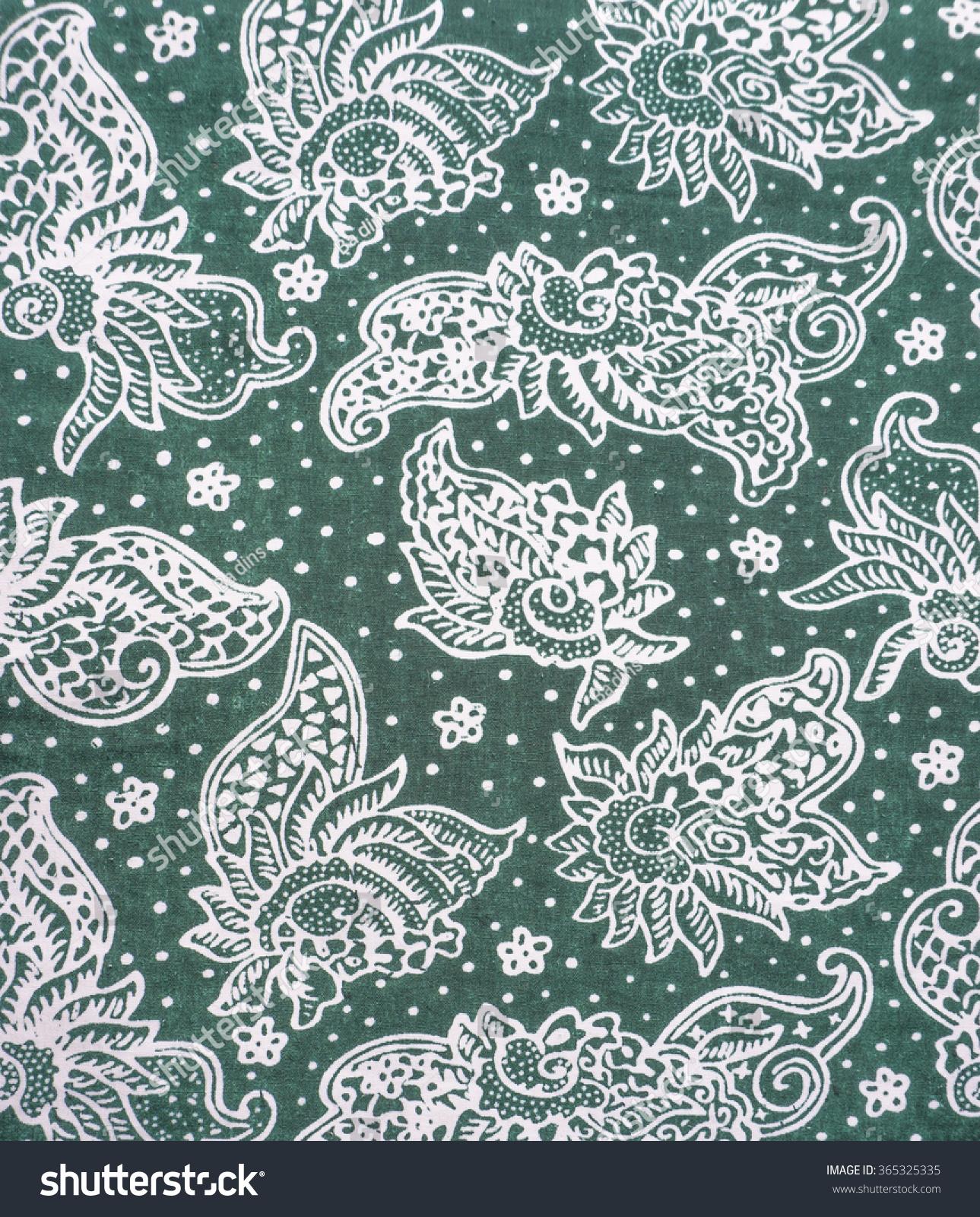 stock photo the beautiful of art malaysian and indonesian batik pattern