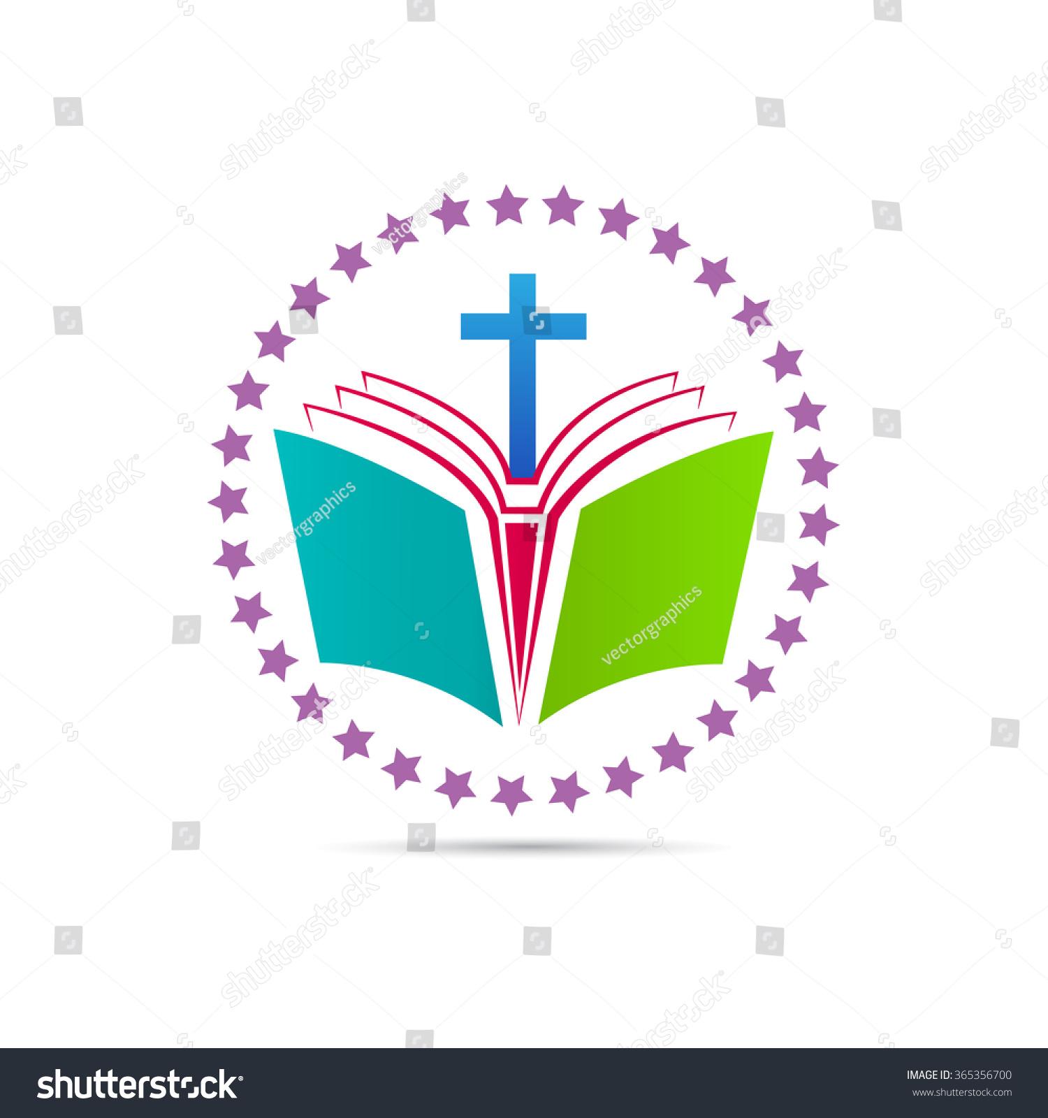 Bible Cross Vector Design Represents Church Stock Vector Royalty
