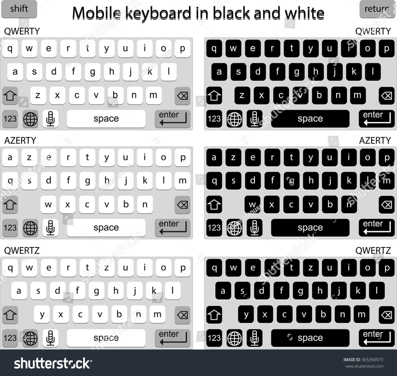 Vector phone keyboard black white smart stock vector 365356973 vector phone keyboard in black and white smart phone keypad mobile phone key text biocorpaavc Images
