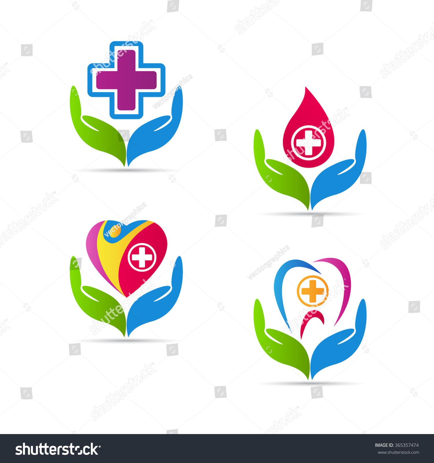Care Logos Vector Design Represents Health Stock Vector