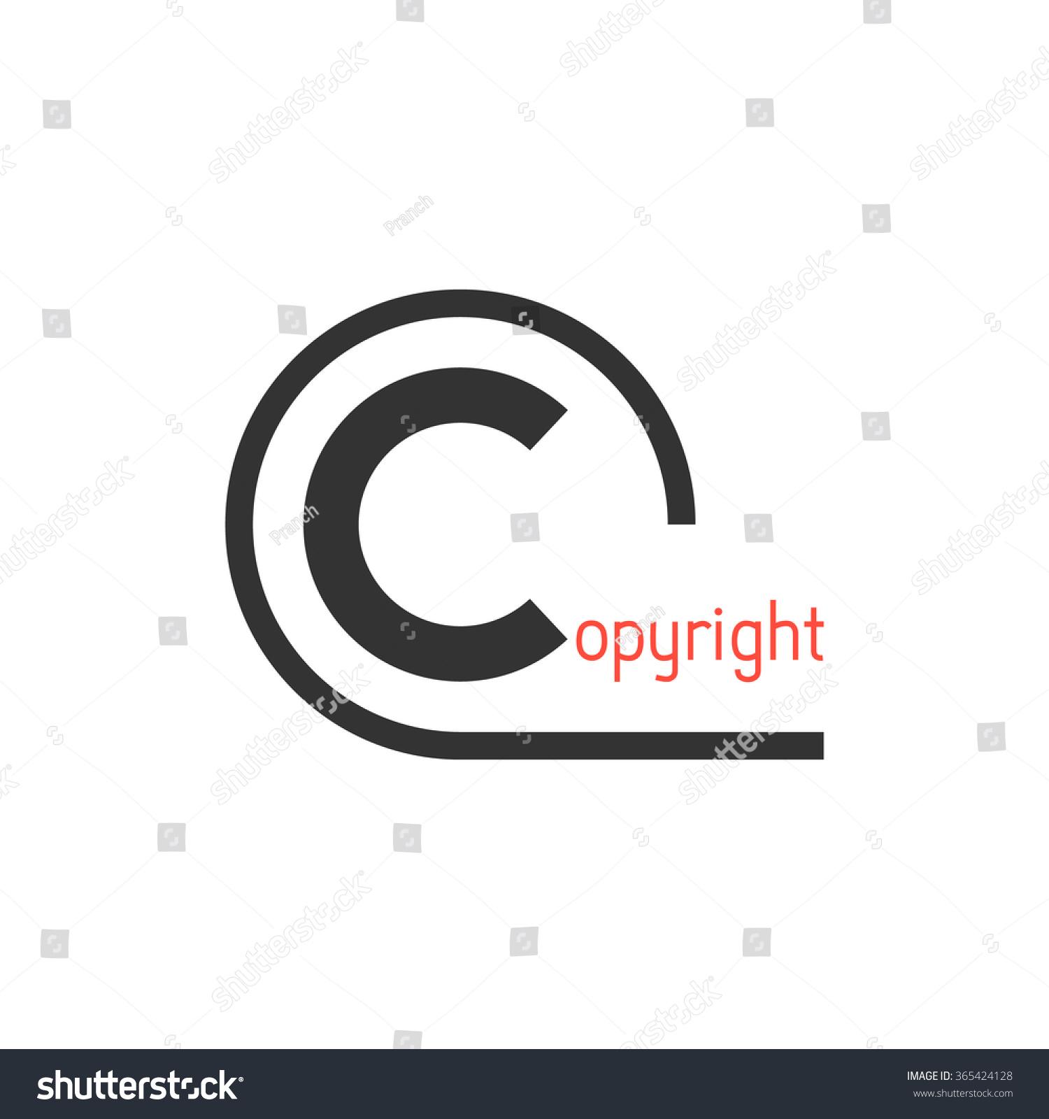 Black Simple Copyright Symbol Concept Law Stock Vector Royalty Free