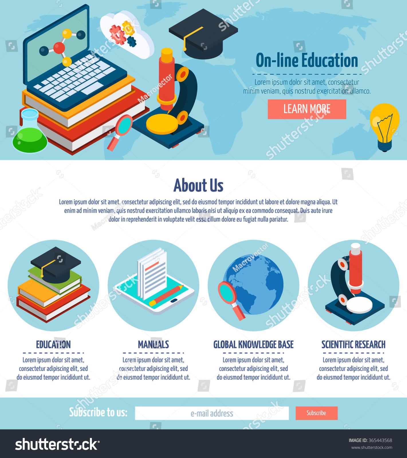 E Learning Website Templates. e learning bootstrap website ...