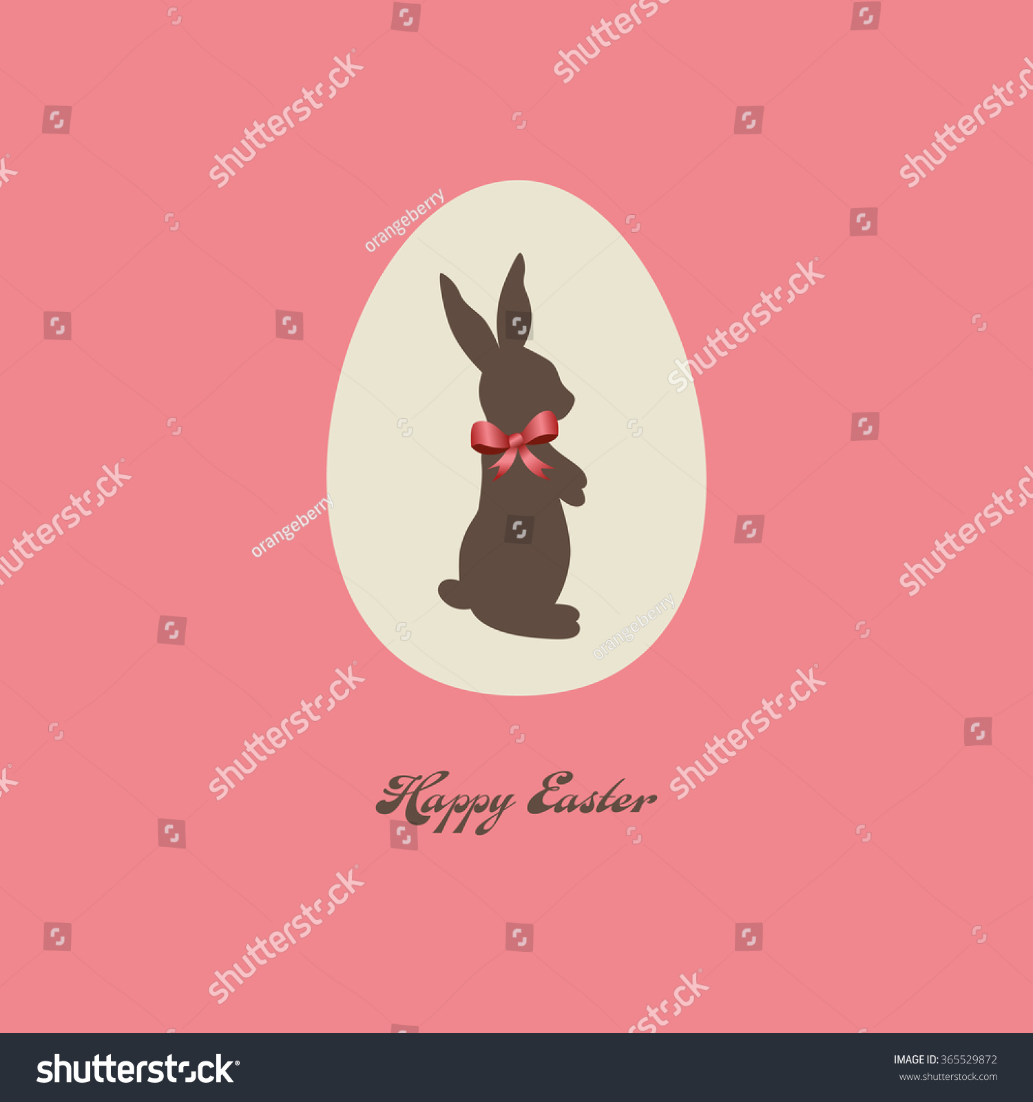 Happy Easter Card Stock Vector 365529872 - Shutterstock