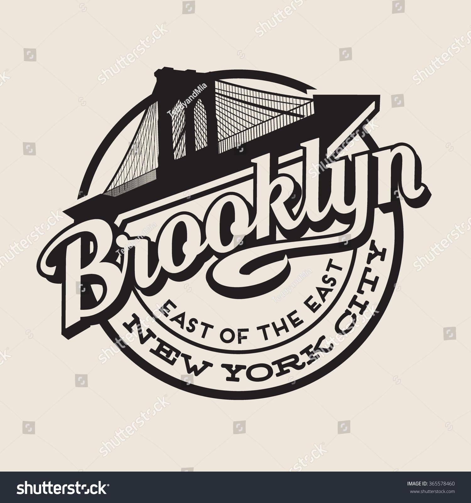 Brooklyn new york city retro vintage stock vector for Vintage t shirt printing