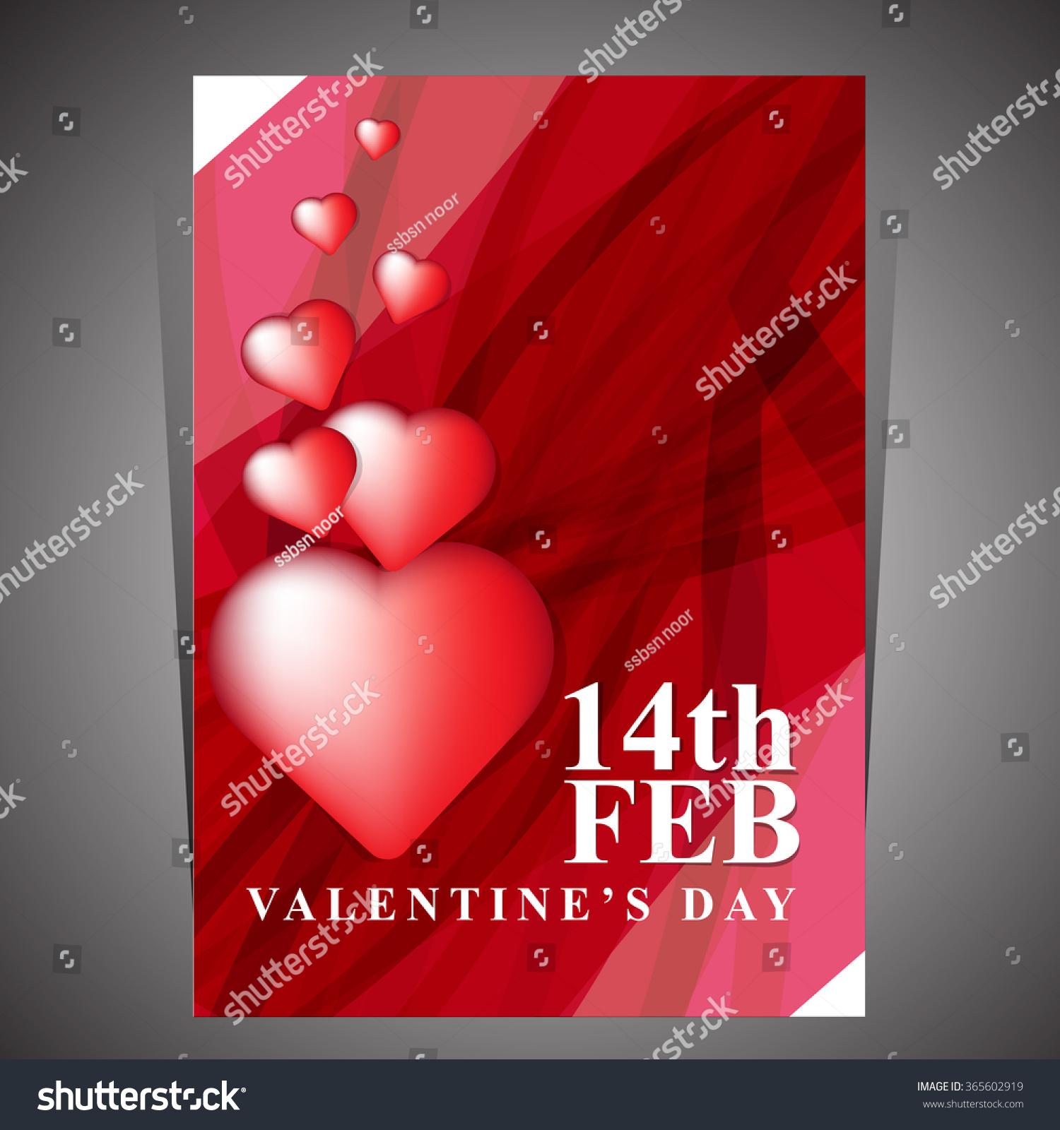 Valentines Day Card Love Card Stock-Vektorgrafik 365602919 ...