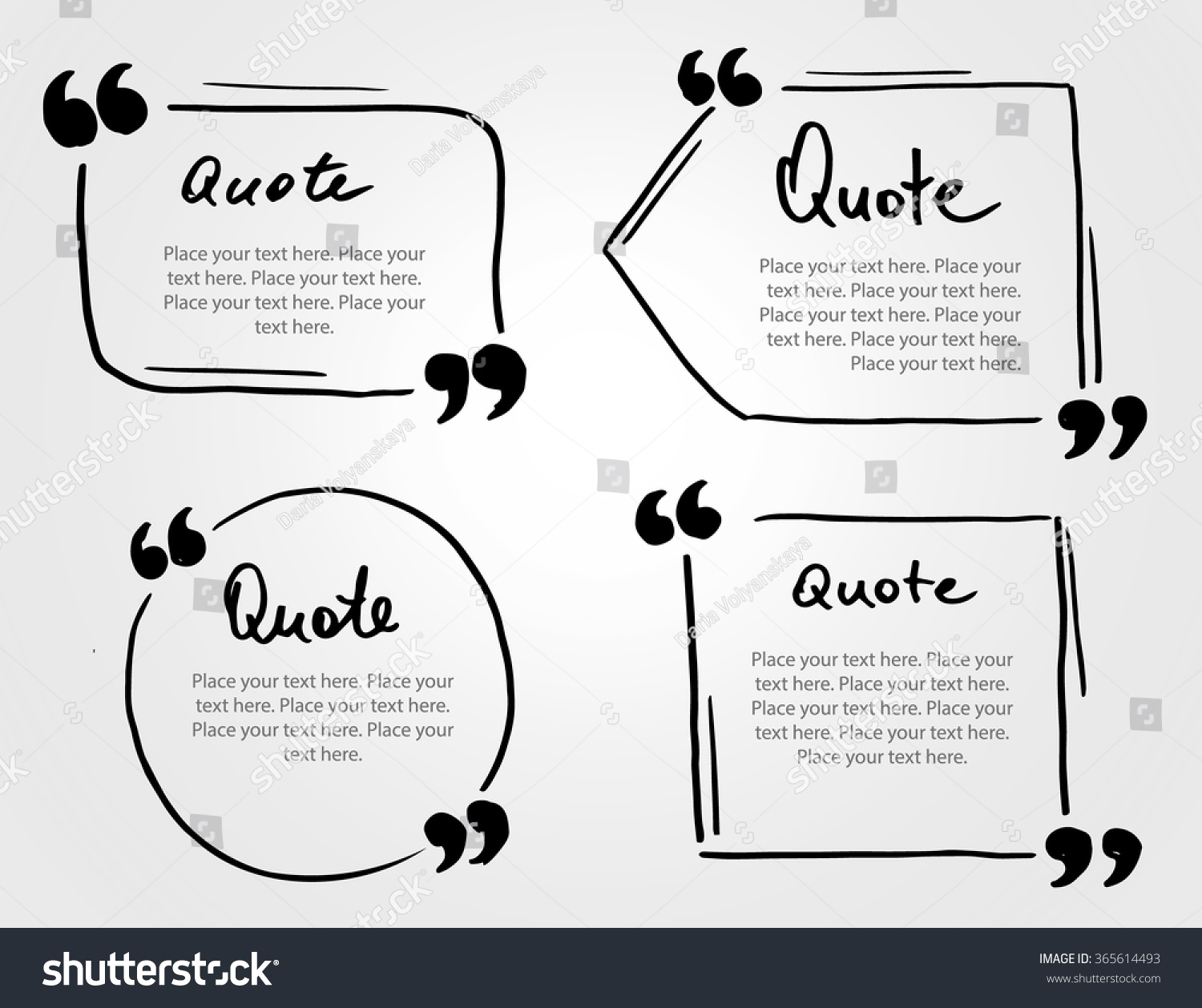 grunge hand drawn marker blank quote stock vector royalty free