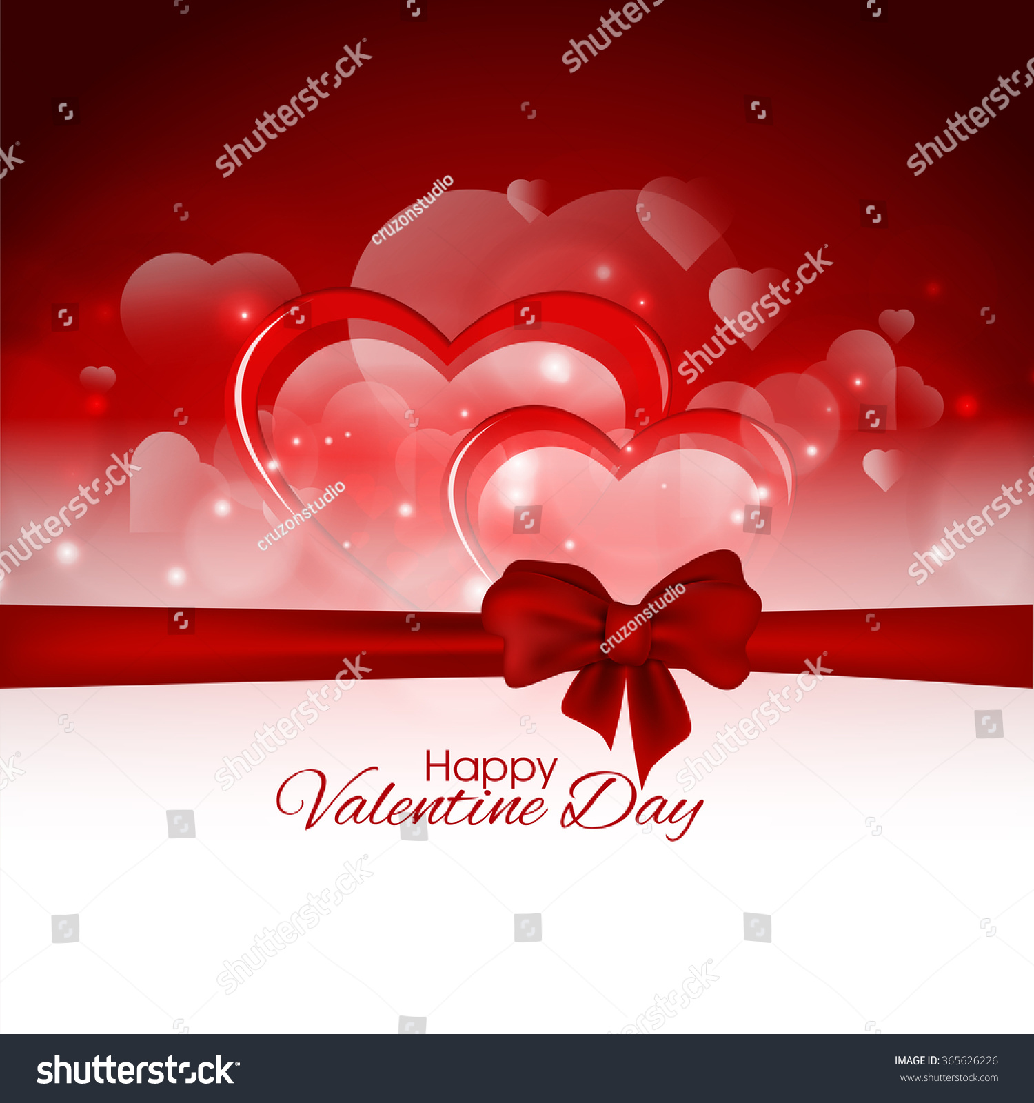 Happy Valentines Day Gift Card Greeting Vector 365626226 – Valentine Day Gift Cards