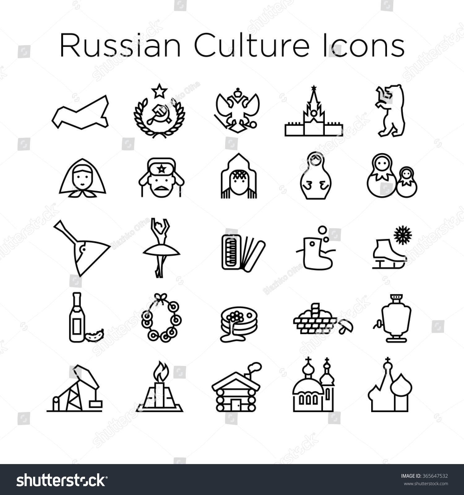 russian culture icons culture signs russia stock vector 365647532 russian culture icons culture signs of russia traditions of russian federation russian life
