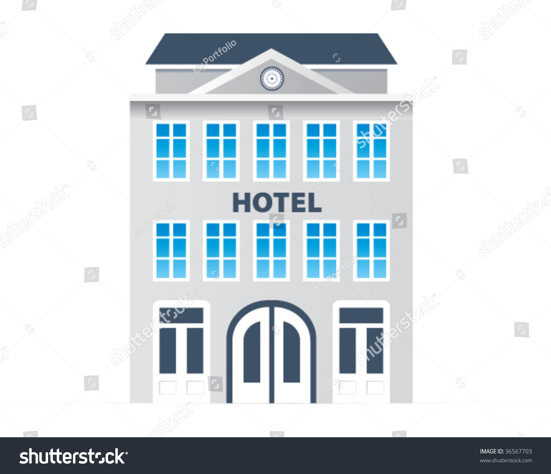 Vector Hotel Icon Stock Vector 36567703 - Shutterstock