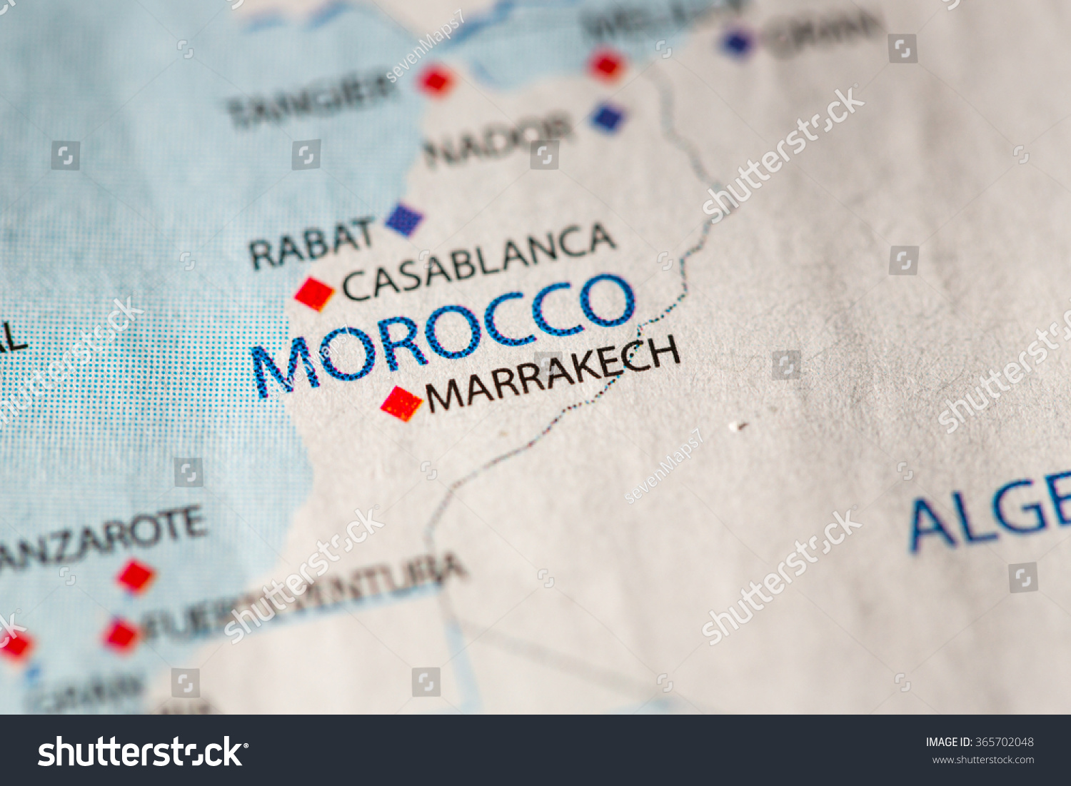 Closeup morocco on political map africa stock photo 365702048 closeup morocco on political map africa stock photo 365702048 shutterstock ccuart Images