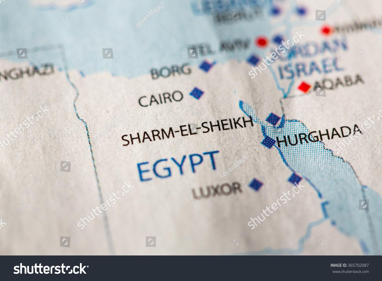 Closeup sharmelsheikh egypt on political map stock photo royalty closeup of sharm el sheikh egypt on a political map of africa gumiabroncs Choice Image