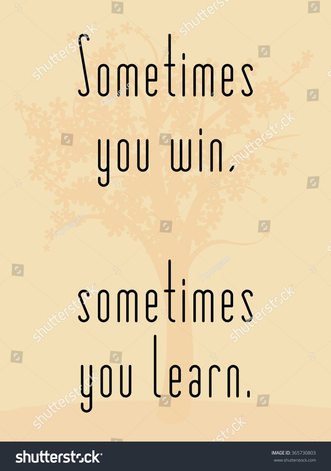 Sometimes You Win Sometimes You Learn Stock Vector Royalty Free