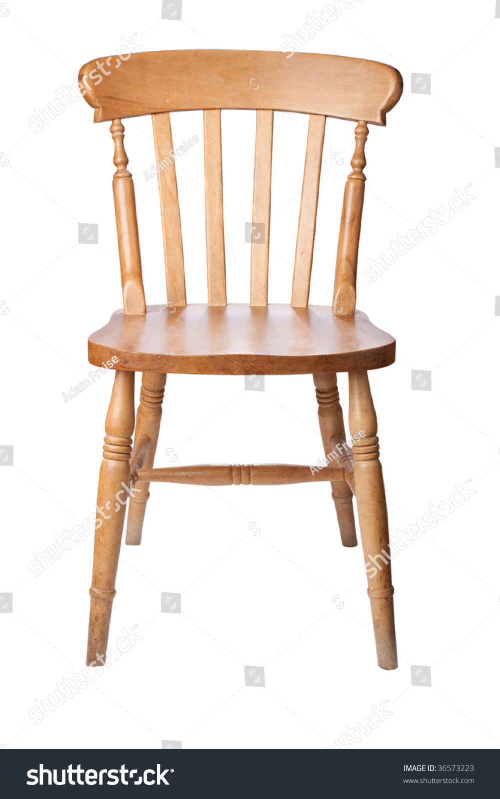 stock photo a traditional pine kitchen chair isolate on white 36573223