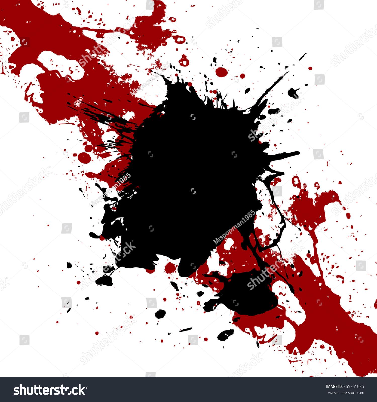 vector ink black red paint splatter stock vector 365761085