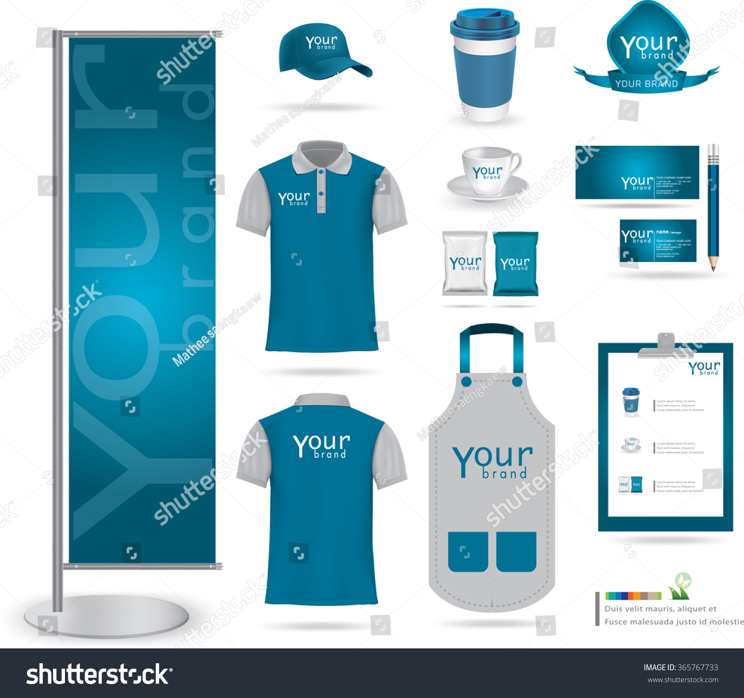 Vector Menu Package Tshirt Cap Uniform Stock Vector Royalty Free