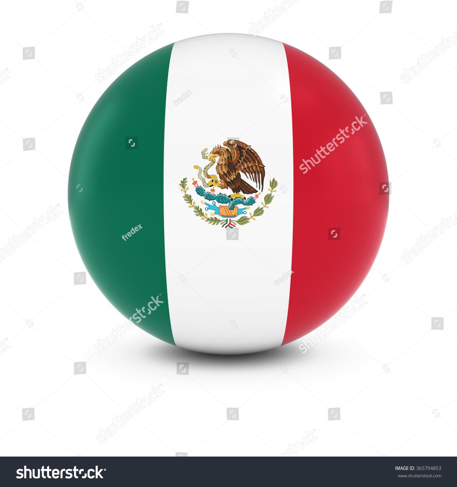 mexican flag ball flag mexico on stock illustration 365794853